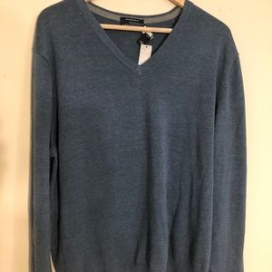 Lands' End Supima Cotton V-Neck Sweater XL